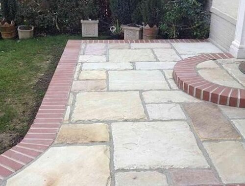 background of floor with paving stones bournemouth