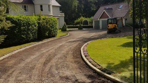 Laying a new driveway