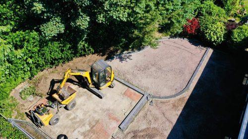 Garden getting ready to landscape