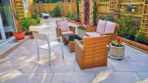 New patio and garden