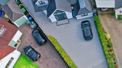 Large completed driveway