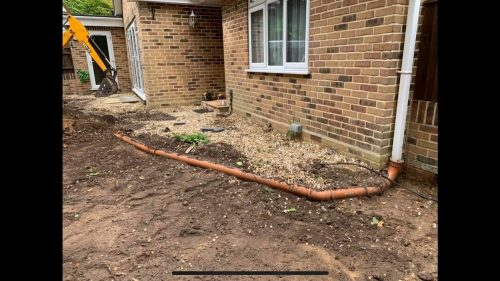 Groundworks before landscaping