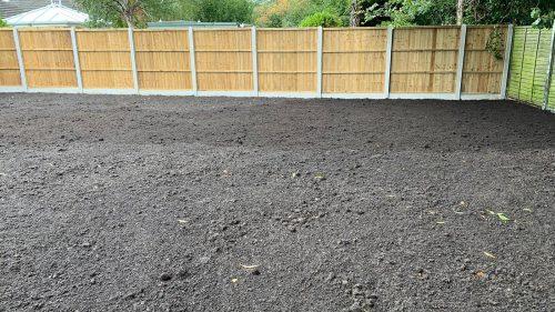 Dug over garden