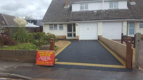 Driveway with edging