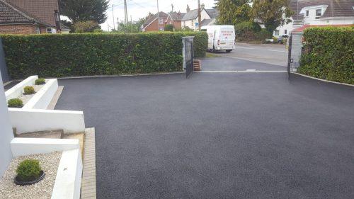 Newly laid driveway