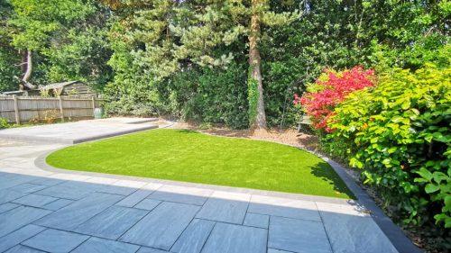 New landscaped garden